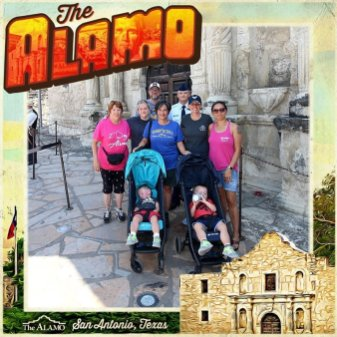 Family picture at the Alamo.