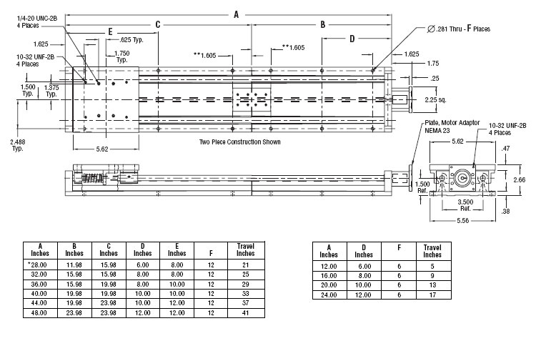linear actuator, linear guide, linear stage