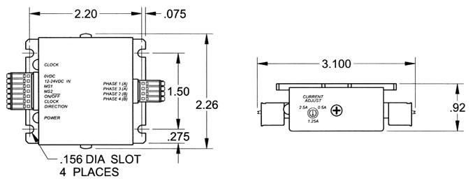 stepper motor driver, +24 VDC, 2.5 Amps
