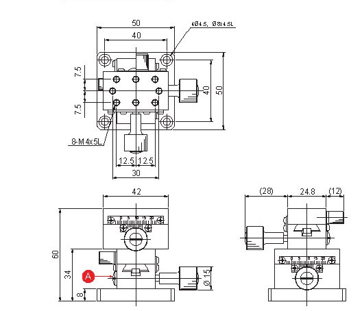 manual dovetail, rack and pinion XY-axis positioning