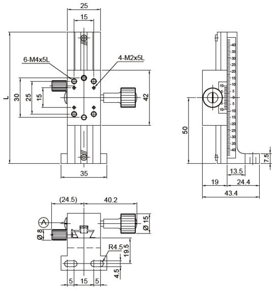 manual dovetail, rack and pinion Z-axis long stroke