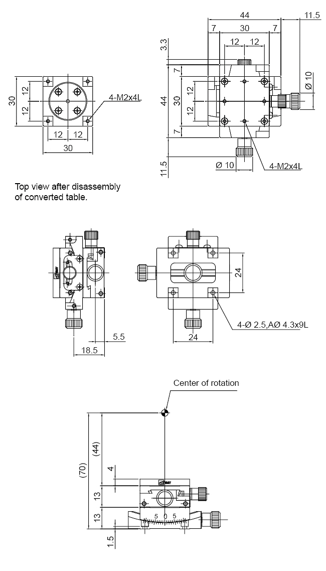 Manual Alpha-axis Goniometer Stages