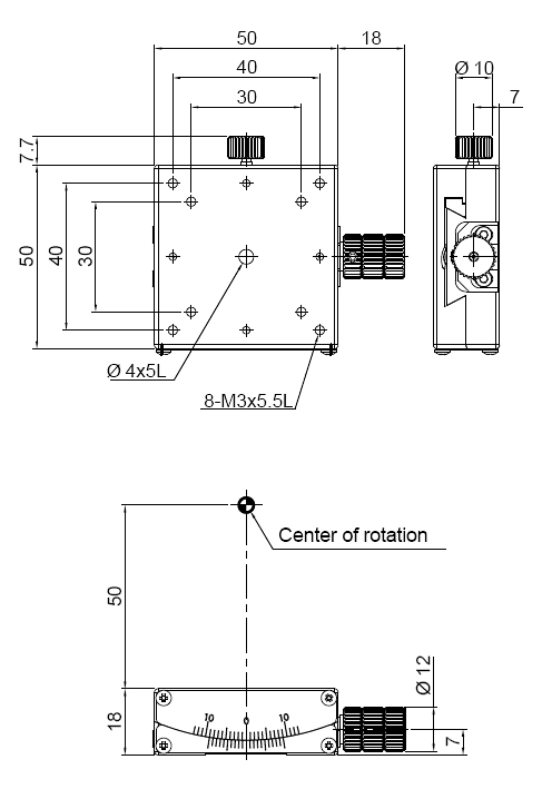 Manual Single-axis Goniometer Stage
