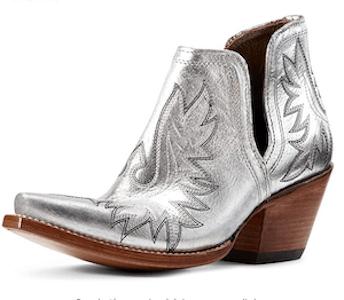 botas vaqueras plata