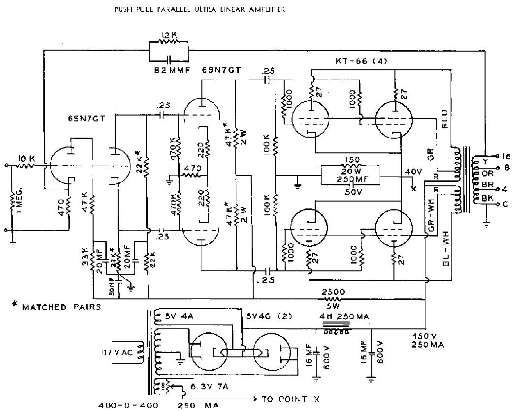 Circuit Diagram W Audio Amplifier