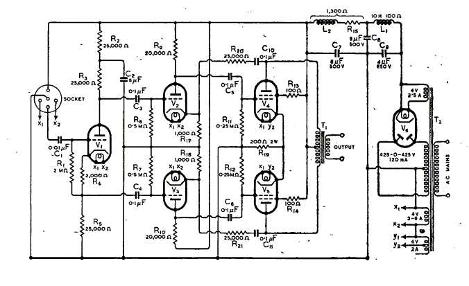 circuit of amplifier