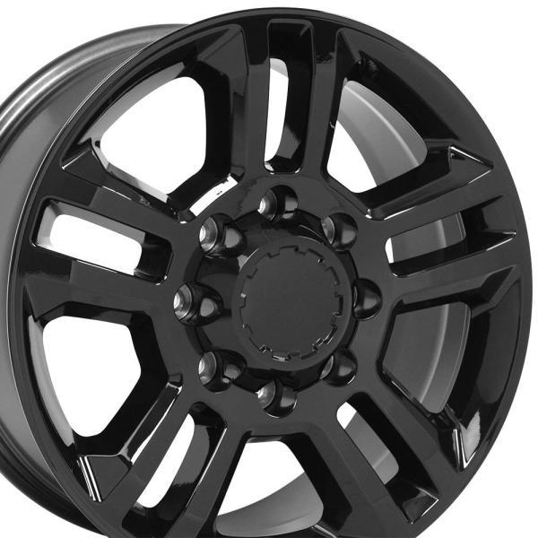 "20x8.5 Black Silverado 2500 3500 Stye 8 Lug Wheel 20"" Rim"