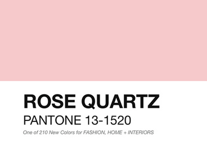 Pantone 2016 Rose Quartz