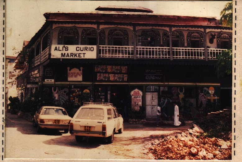 Ali's Curio market (formerly the police station) in the 1980s and 2015