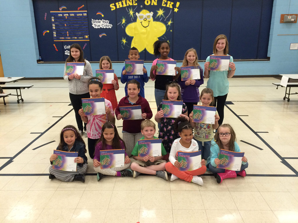 Estelle Kampmeyer names Character Builders of the Month