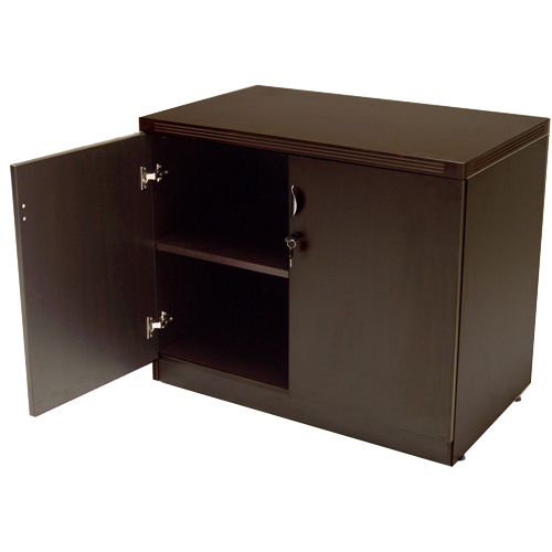 Low Height Espresso Storage Cabinet  OFCO Office Furniture