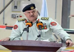 Il Presidente del Joint Chiefs of Staff, il Mag. Gen. Yousef Huneiti