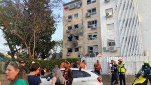 Edificio civile danneggiato ad Ashkelon