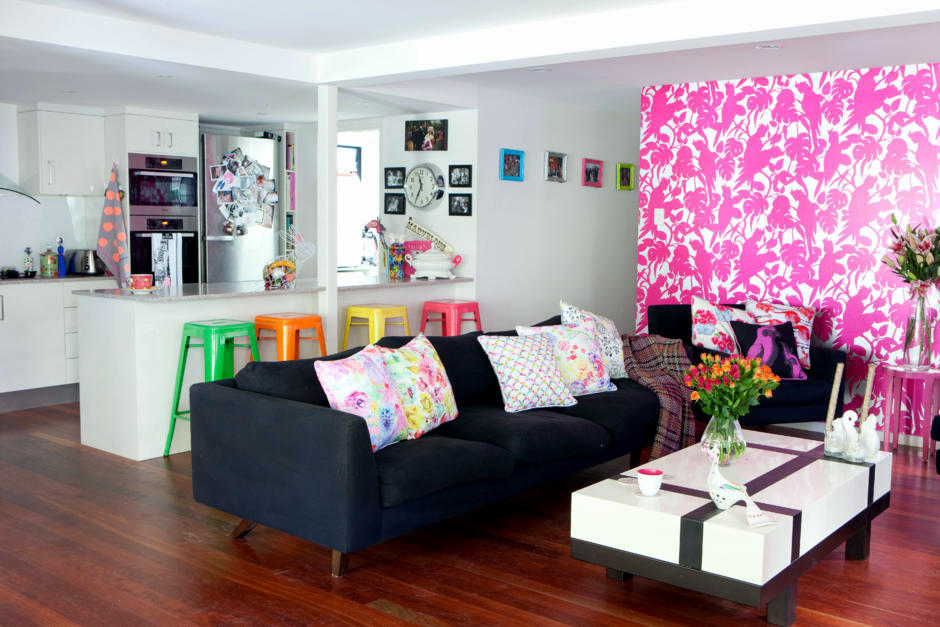Neon colors in the living room  Interior Design Ideas