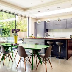 Green Dining Room Chairs Graco High Chair Blossom Table With Eames Interior Design Ideas Kitchen