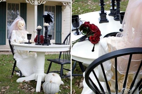 Decorer Jardin Squelette Halloween Idees Accueil Design Et Mobilier