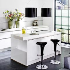 Modern Kitchen Bar Stools Blown Glass Pendant Lighting For Counter With Black Interior Design Ideas