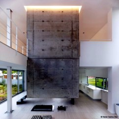 Living Room Recessed Lighting Glass Display Units For Modern House In Spain – Spacious Rooms And High Ceilings ...