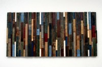 Recycled wood Contemporary wall art brings the outdoors ...