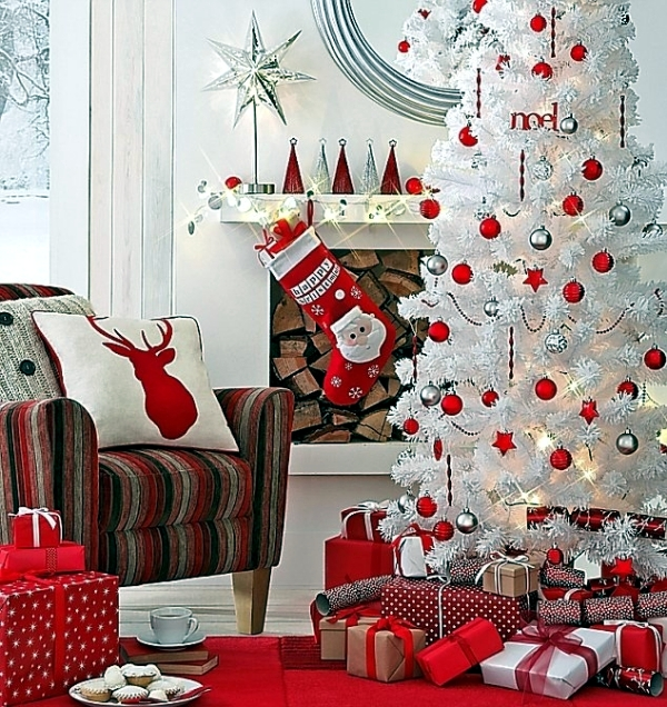 red and white classic christmas farbduo christmas table decoration