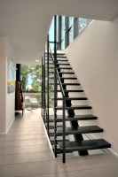 The modern steel staircase inside and outside for amazing ...