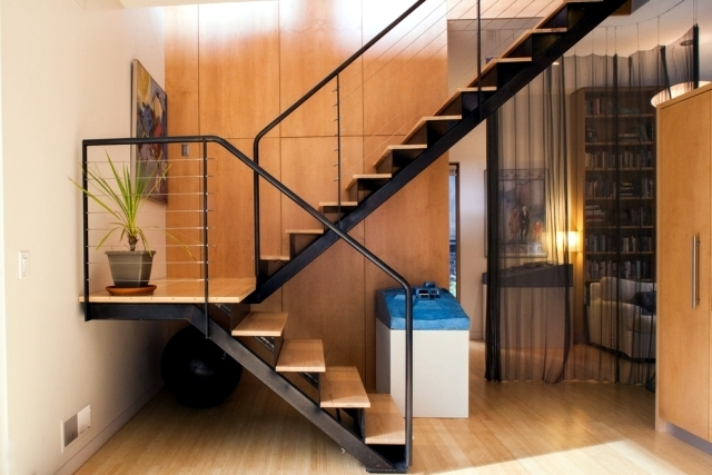 The Modern Steel Staircase Inside And Outside For Amazing Design   Inner Steps Design For House   Contemporary   Ultra Modern   Metal Staircase   Double Storey   Side Wall