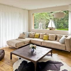 Modern White Sofa Decorating Ideas Corner Double Bed With Storage Lounge Light Beige | Interior Design - Ofdesign