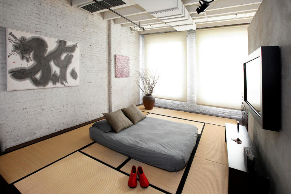 Room with minimalist Japanese influences  Interior Design