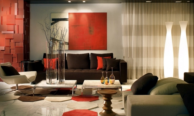 brown and orange living room tropical rooms interior design ideas is modern