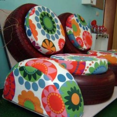 How To Recycle My Sofa Teal Coloured Bed 100 Diy Furniture From Car Tires Tire Recycling Do It Yourself Home