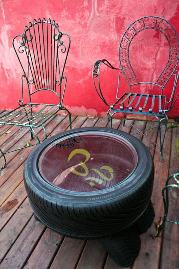 ergonomic chair instructions tulip cushion 100 diy furniture from car tires – tire recycling do it yourself | interior design ideas ...