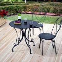 21 wrought iron garden furniture  Highlights the graceful ...