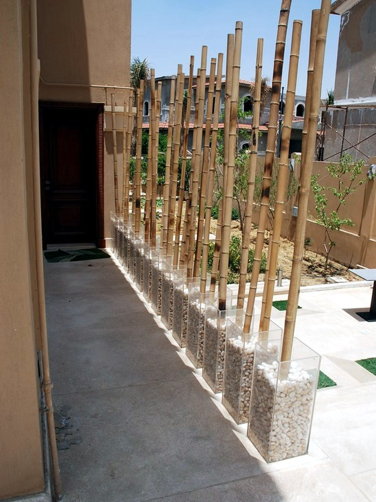 24 ideas for decorative bamboo poles  How bamboo is used in the room  Interior Design Ideas