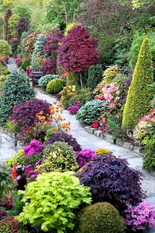 color scheme garden landscaping