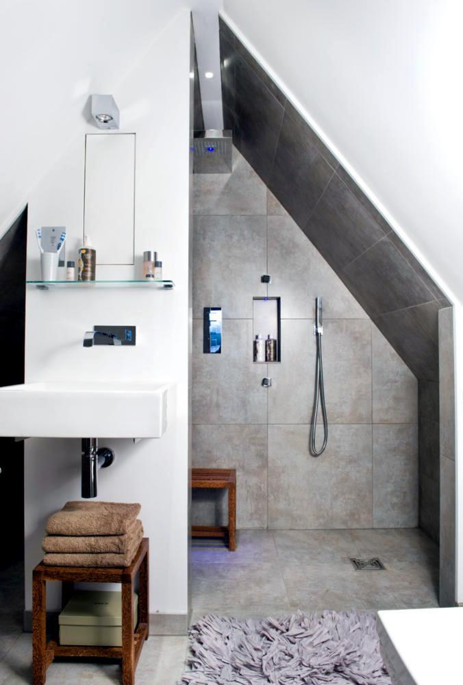 Shower in the attic  Interior Design Ideas  Ofdesign