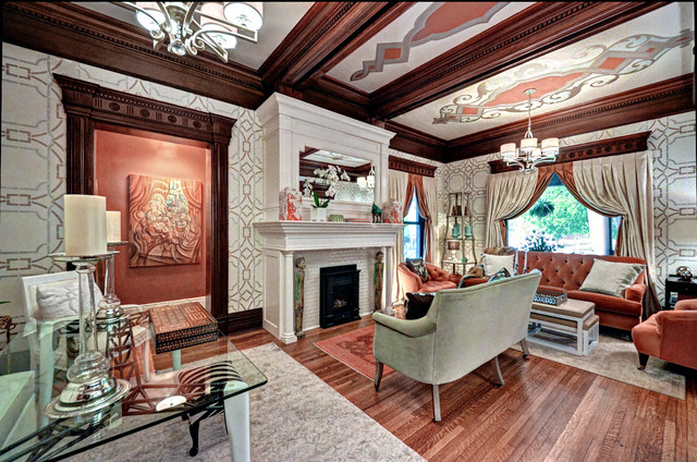 Victorian style  luxurious and opulent decorations