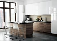 Kitchen wood color with white cabinets | Interior Design ...