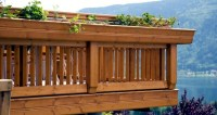 Railings on the balcony  stainless steel, wood or glass ...