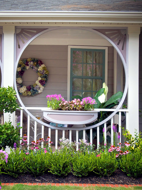 The wooden house covered porch  decorating ideas and design tips  Interior Design Ideas  Ofdesign
