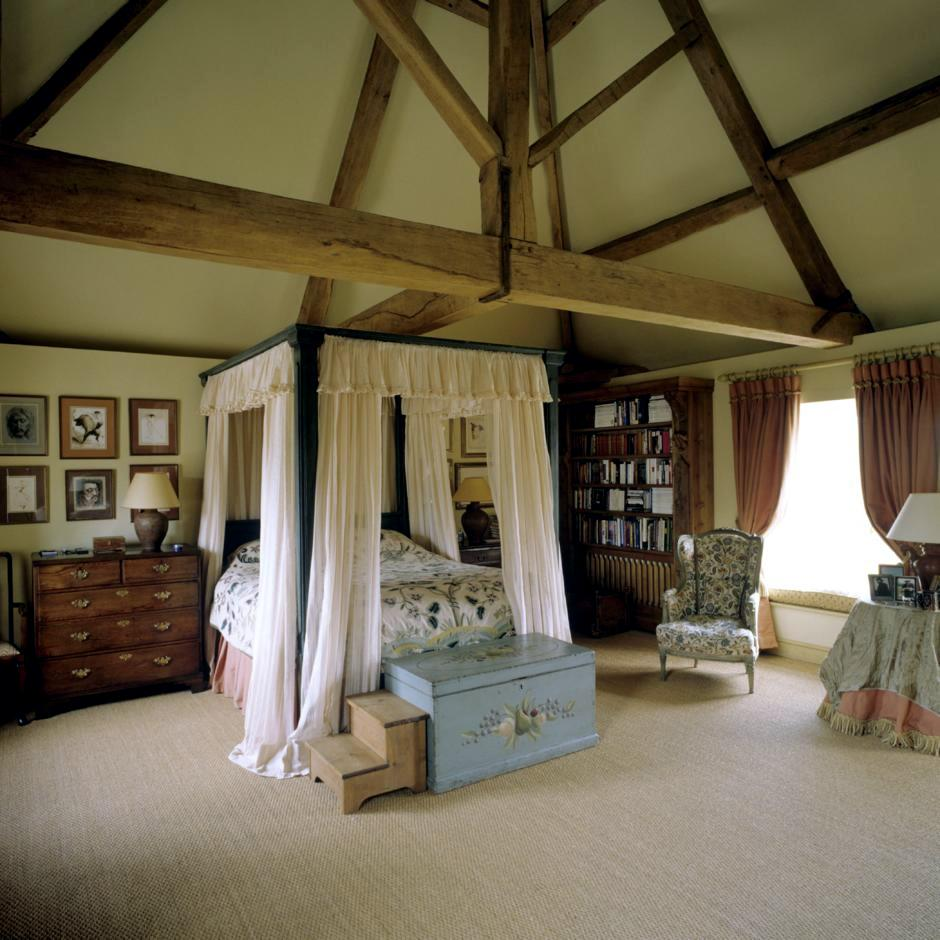 A canopy bed under the roof  Interior Design Ideas  Ofdesign