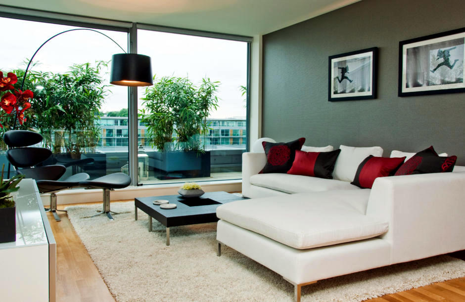 wall colors for living room with black furniture used chairs sale color coordination the overall image of harmonious ...