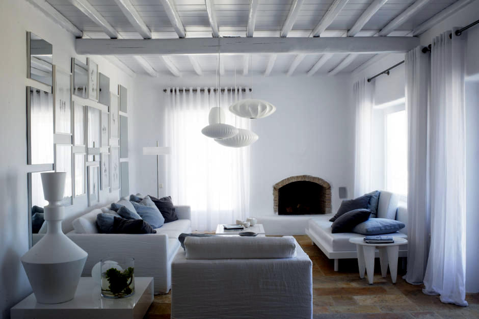 Sitting white in a modern country style  Interior Design