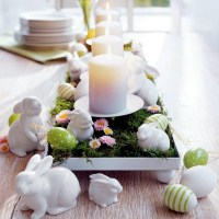 Make table decoration Easter itself  25 ideas for ...