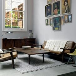 Color Ideas Living Room Brown Carpet Inspiration With Furniture Of The 50s | Interior ...