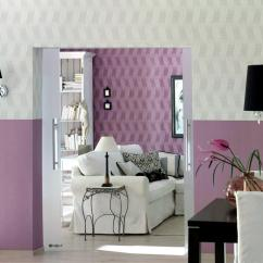 Pink Sofa Furniture With Bed Underneath Two Colors Wall Design In And White | Interior ...