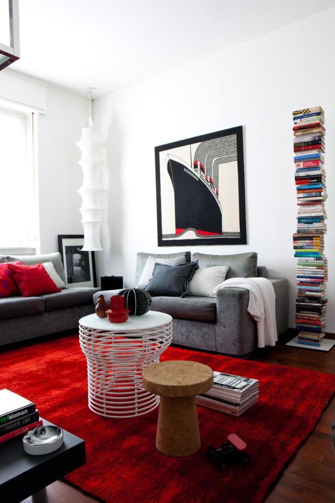 Red carpet in the living room  Interior Design Ideas