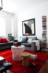 Red carpet in the living room | Interior Design Ideas ...