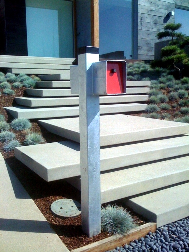 Front Door Landing Ideas Table And Chair And Door | Modern Front Door Steps | Entrance | Bungalow Entrance | Modern House | Contemporary | Garden Entrance