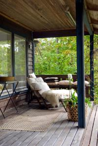 Wooden veranda with terrace | Interior Design Ideas - Ofdesign