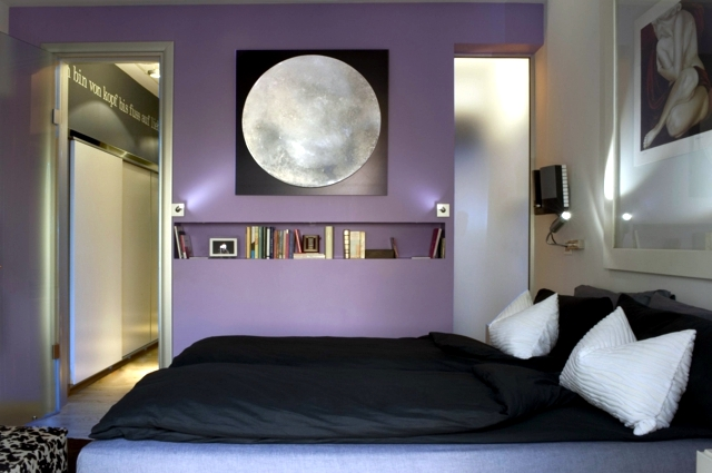 Black And Lavender Bedroom Snsm155 Com